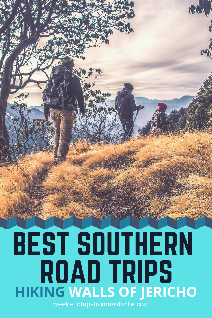 Pin this for later! Best Southern Weekend Road Trips in the US: Hiking Walls of Jericho via WeekendTripsFromNashville.com