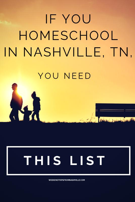 Homeschool activities that every homeschooler in Nashville will need!