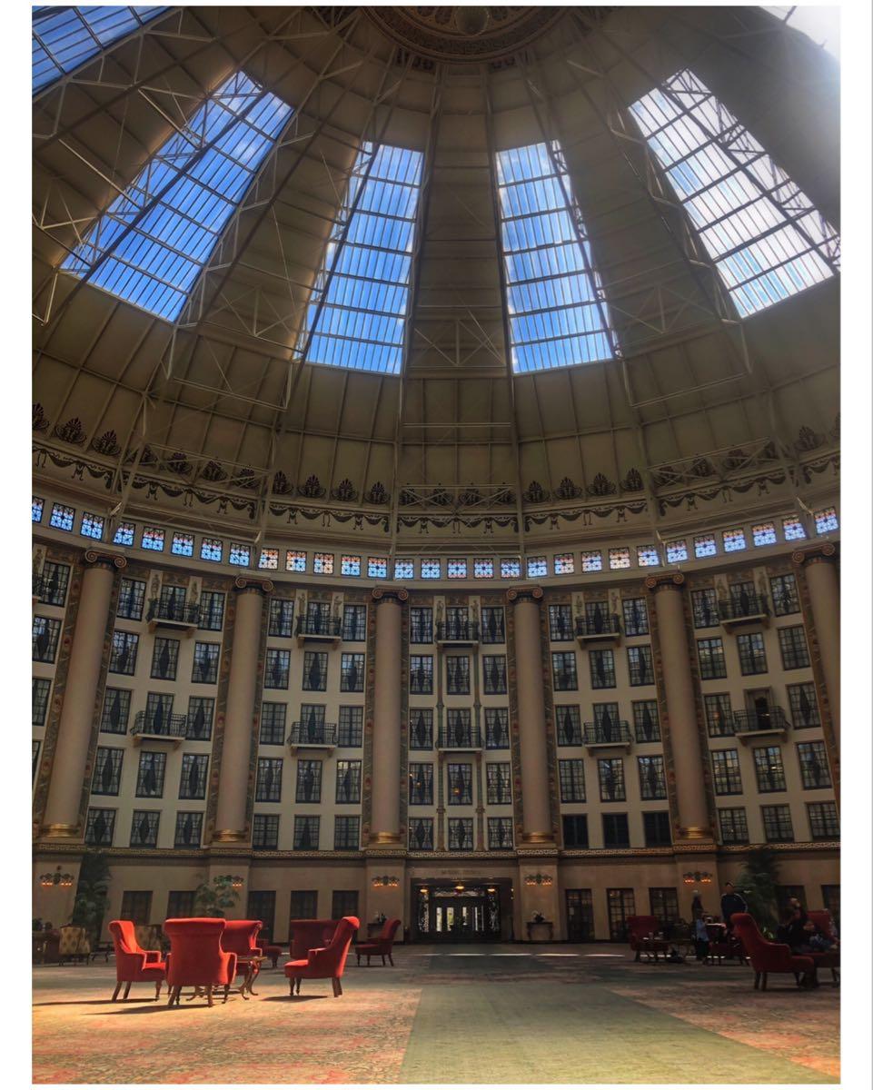 Photo inside atrium of West Baden Springs Hotel,  Samantha Nelson Photography