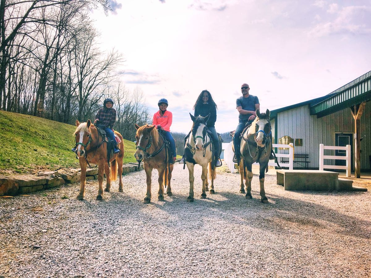 Horse back riding on the trails at French Lick Resort.