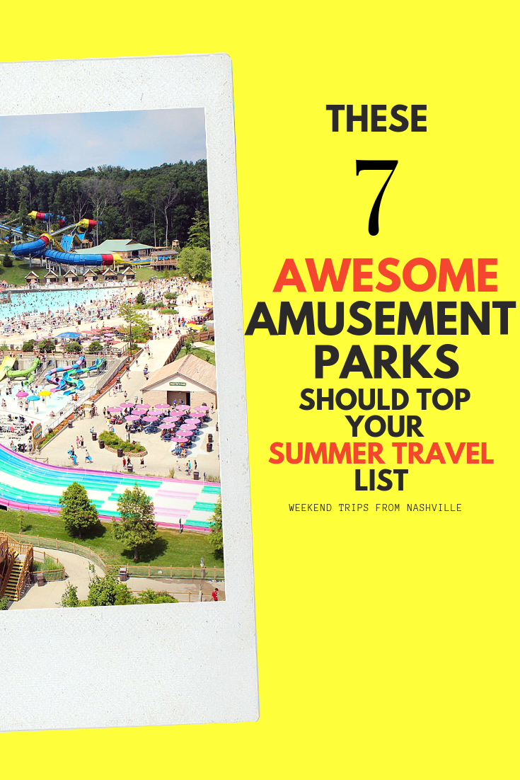 Pin for later! 8 Thrill-worthy southern amusement parks, besides Disney via ThoseCrazyNelsons.com