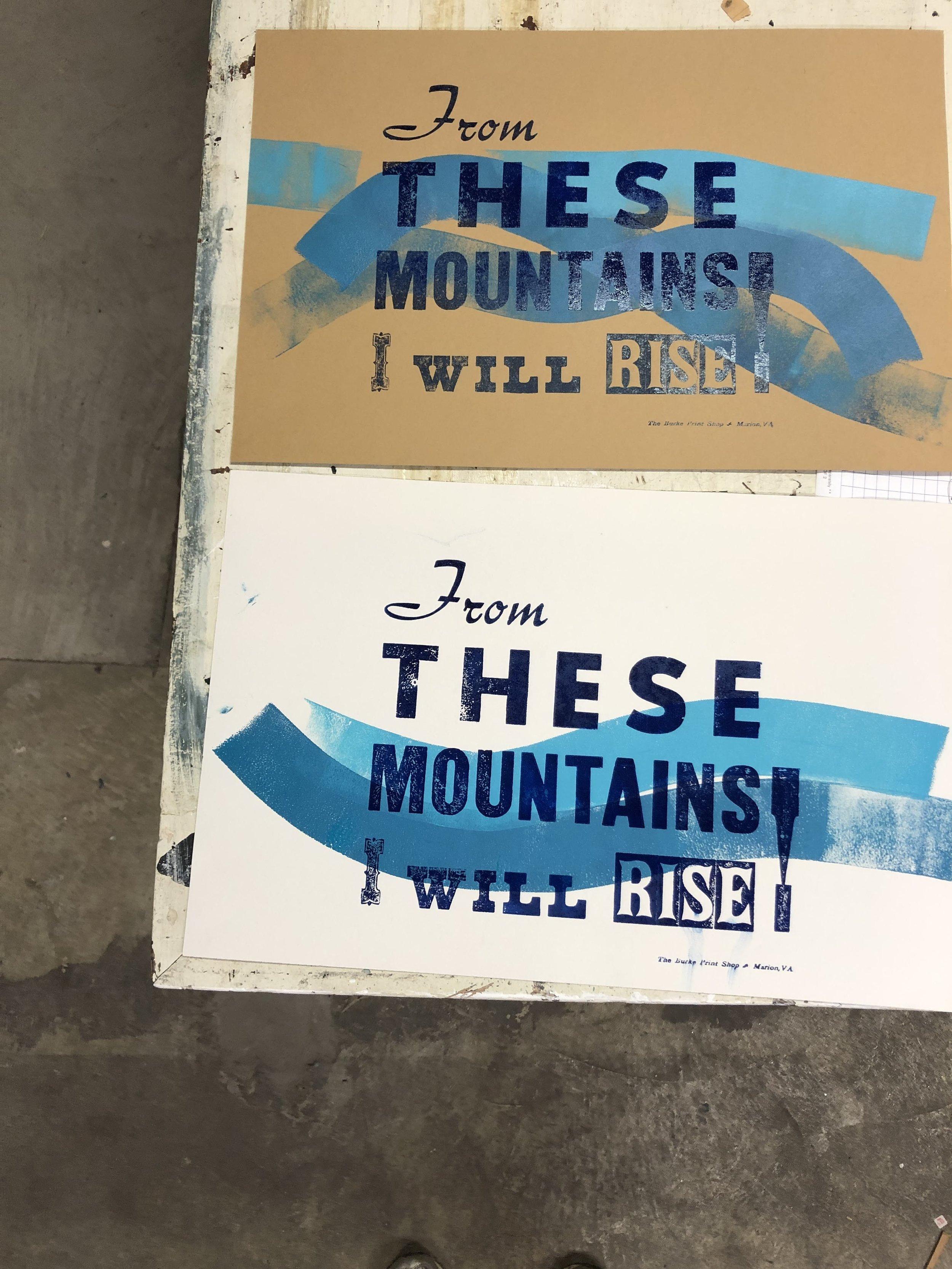 Beautiful letter press art made at the  Henderson School of Appalachian Arts.