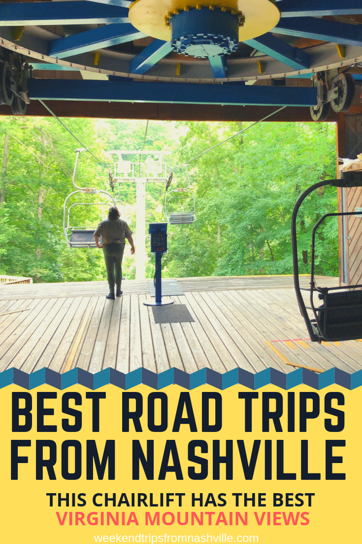 Pin this for later! Best #WeekendRoadTrips from Nashville: Natural Tunnel State Park in #Virginia