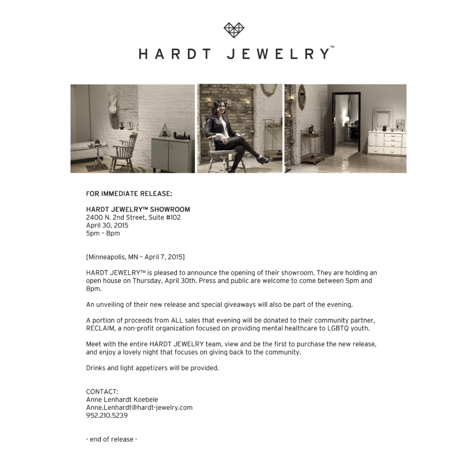 Hardt Jewelry Showroom Opening