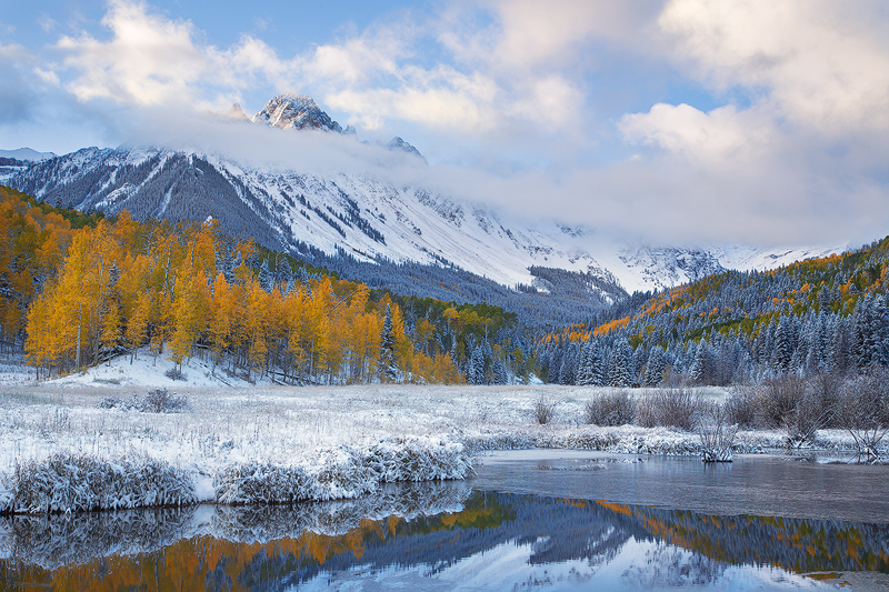 A very cold morning in Colorado's San Juan Mountains (not winter, but close!).