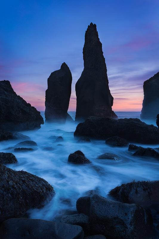 Seastacks, southern Iceland Coast