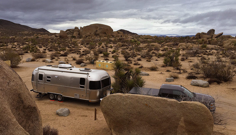 Our Airstream at the Belle Campground in Joshua Tree National Park (iPhone)