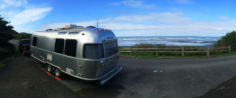 An iPhone photo of our favorite campsite in Olympic National Park - right on the ocean!