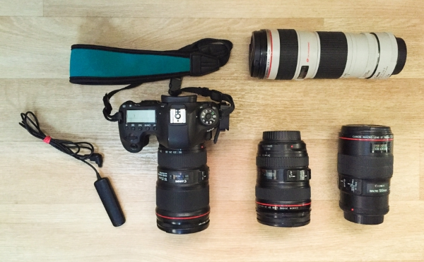 Some of the Canon gear described below.