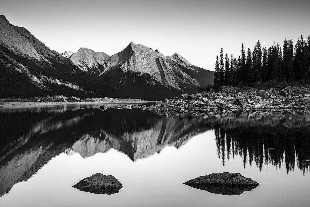 Medicine Lake in Jasper National Park, Canada.
