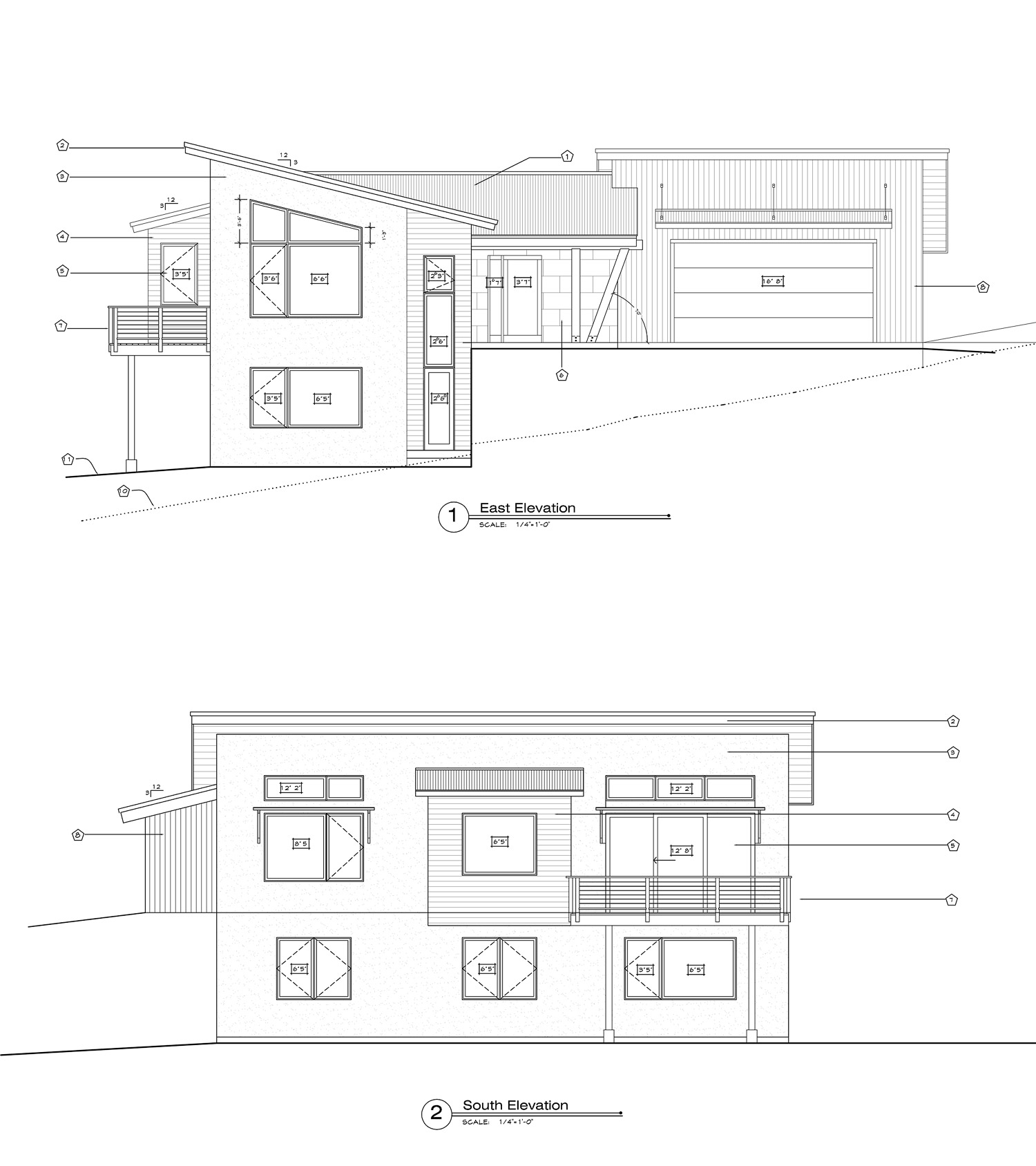 East and South Elevations