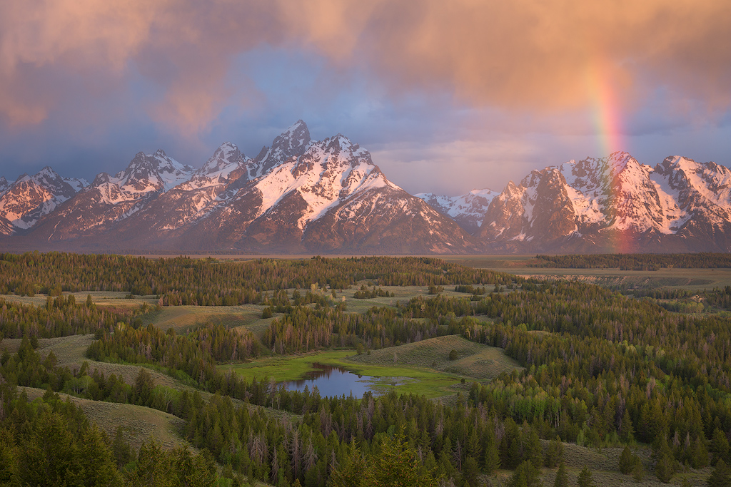 """""""Gildy's Gift"""" - An incredible sunrise at Grand Teton National Park which we would have missed had our cat Gildersleeve not woken us up for food at 4 AM."""