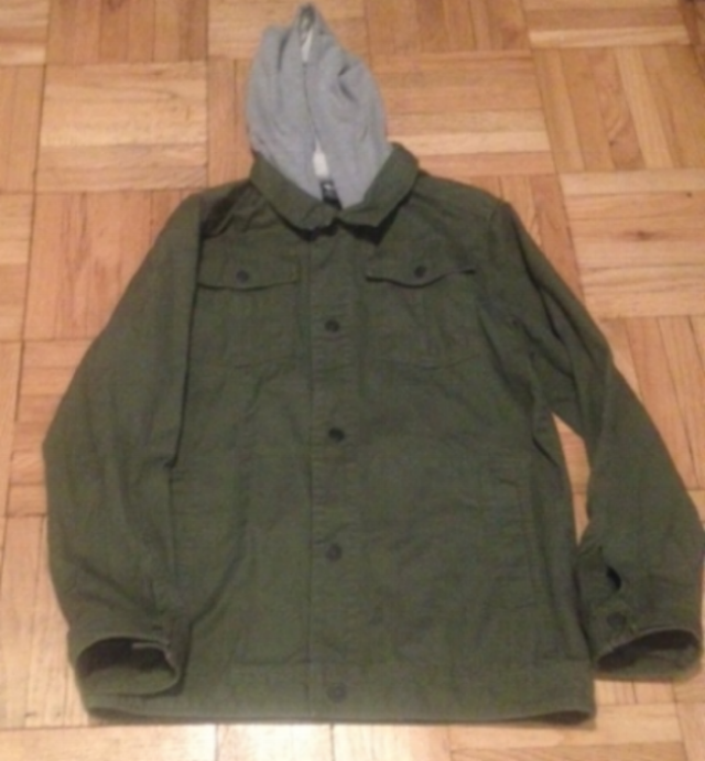 Basic military jacket with attached hood