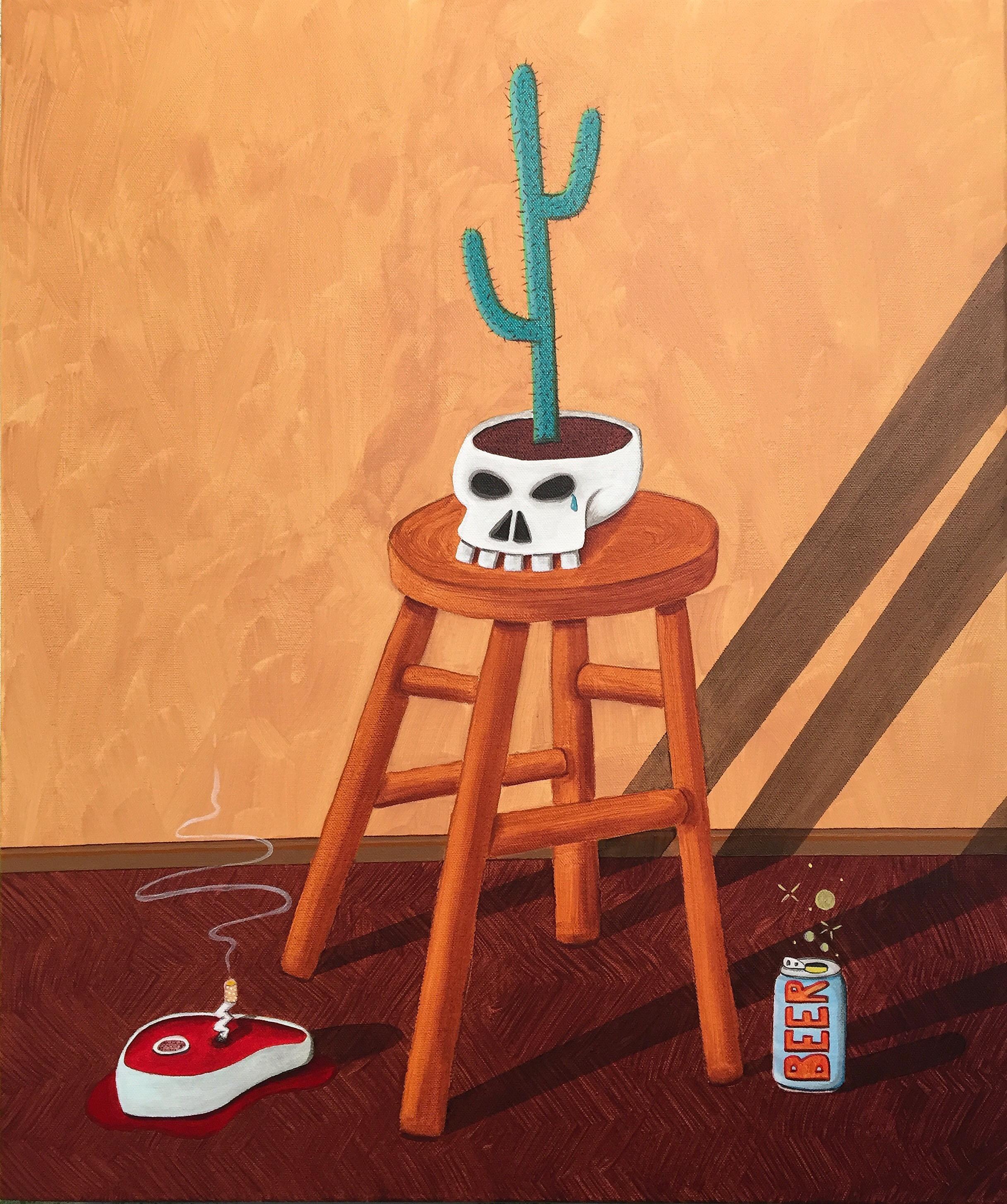 Skull Cactus Still Life