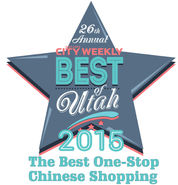 Since our opening in 2014 we have been delighted by the support of the community! In 2015 we were awarded City Weekly's Best One-Stop Chinese Shopping in their 26th annual Best Of Utah awards!