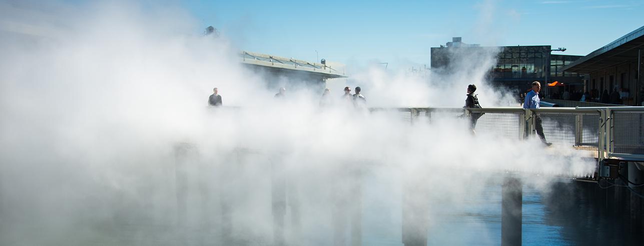 Fog Bridge, Bristol International Festival , UKby Fujika Nakaya,  ©  www.ibt15.co.uk