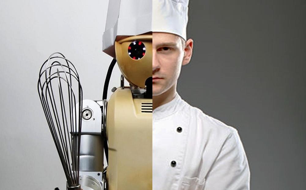 (왼) 푸드 로봇 /  (오) 요리사
