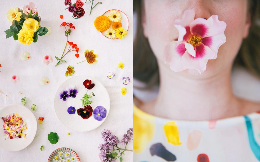 (왼) Edible Flowers  /  (오) Girl with a Flower