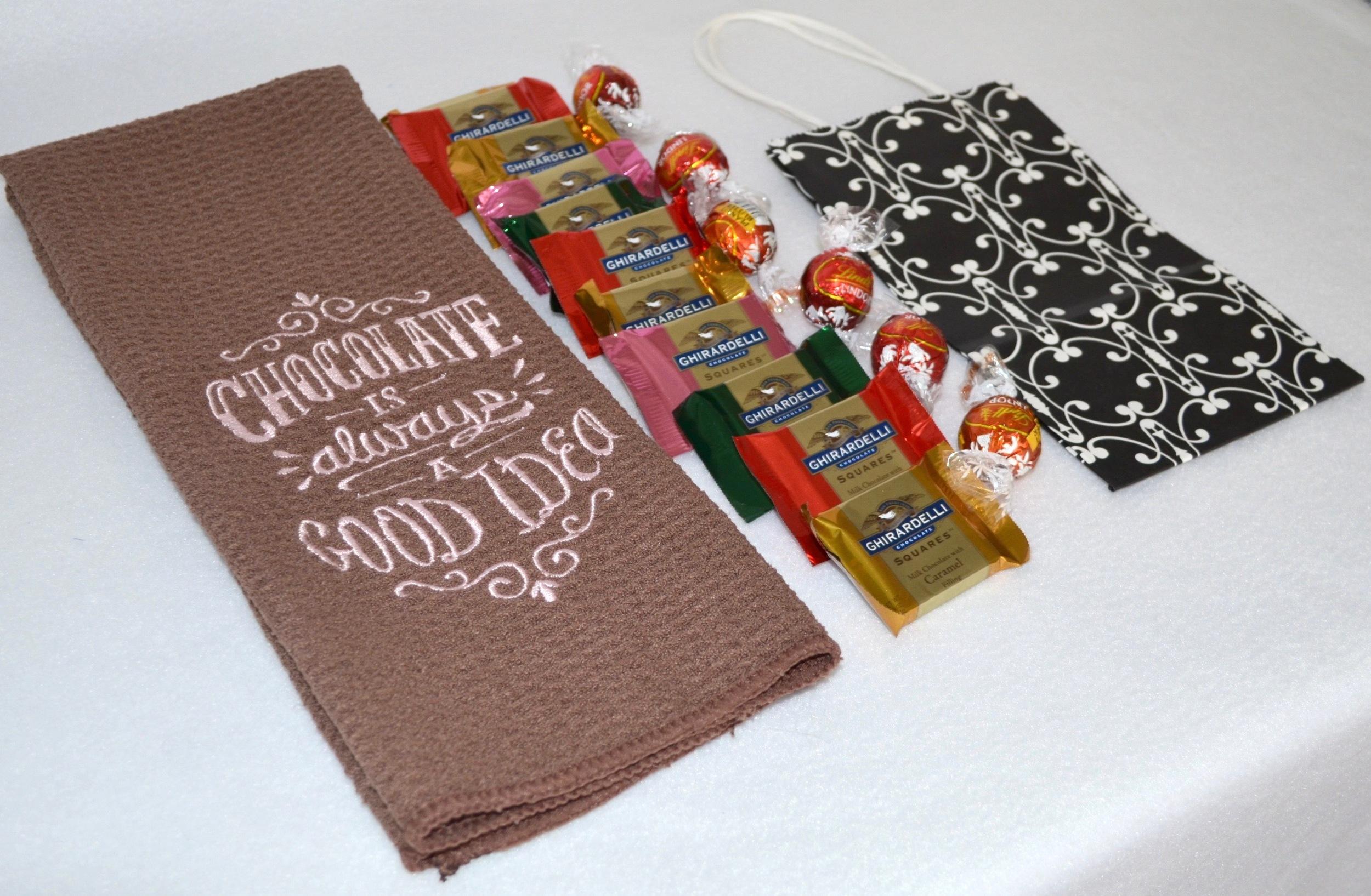 Great Gift Idea - Microfiber Towel & Chocolates