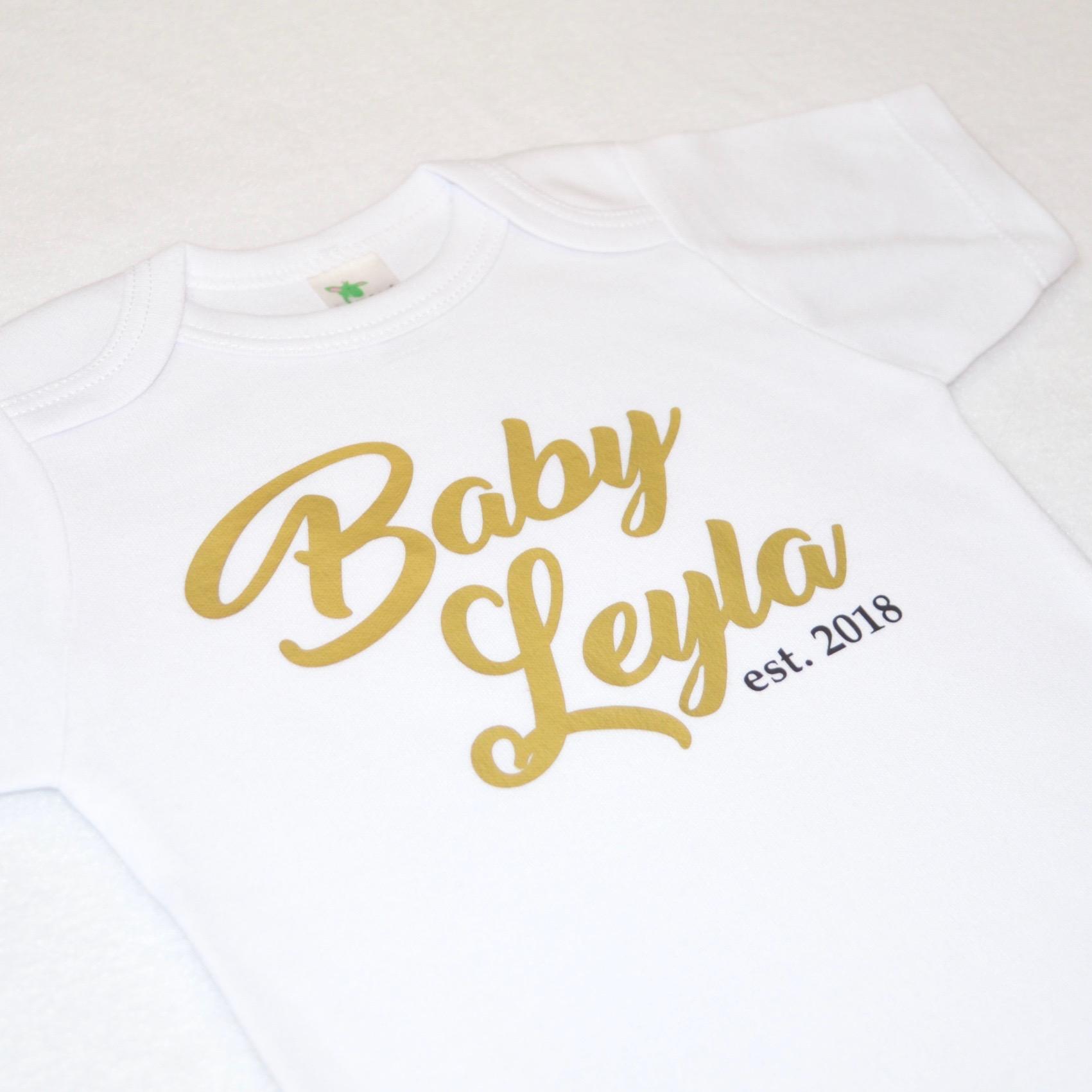 Custom Baby Bodysuit est. 2018