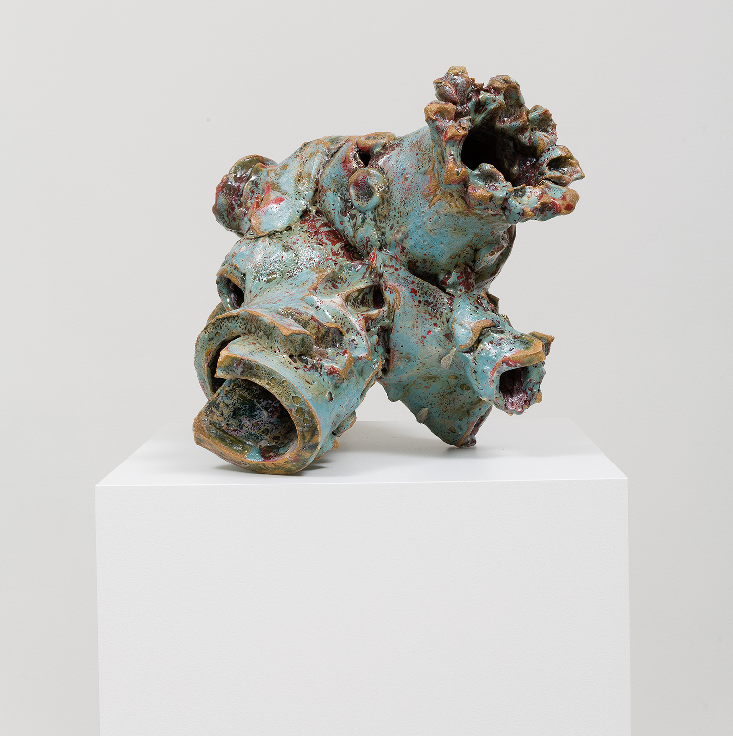 Christopher Miles  Untitled (Nugget #4)    2013 Glazed stoneware 14.5 x 20 x 19 Inches  Courtesy of the Artist