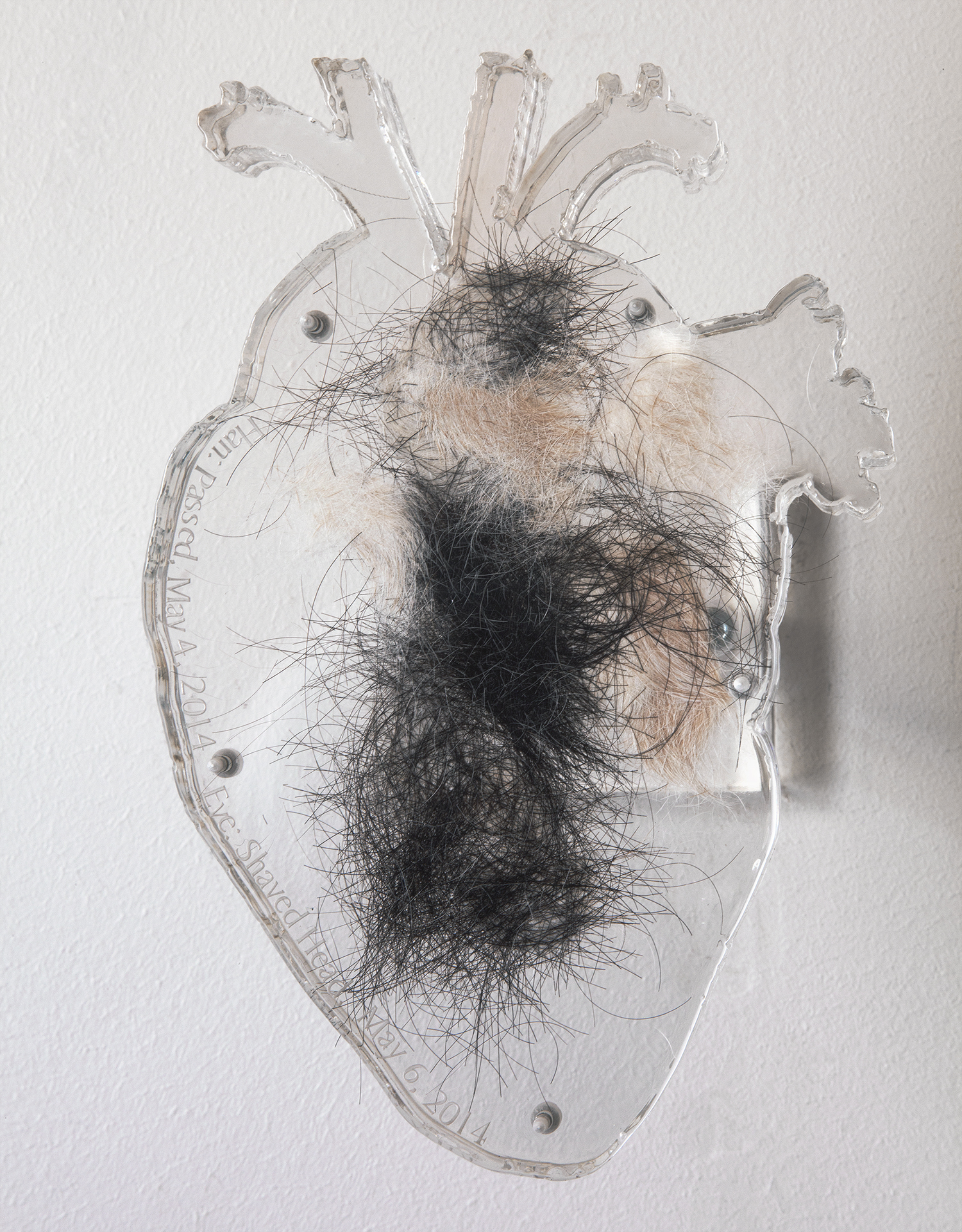 Eve Wood  Final Translation  2014 Acrylic, dog hair, human hair 8 x 6 x 9 Inches   Courtesy of the Artist