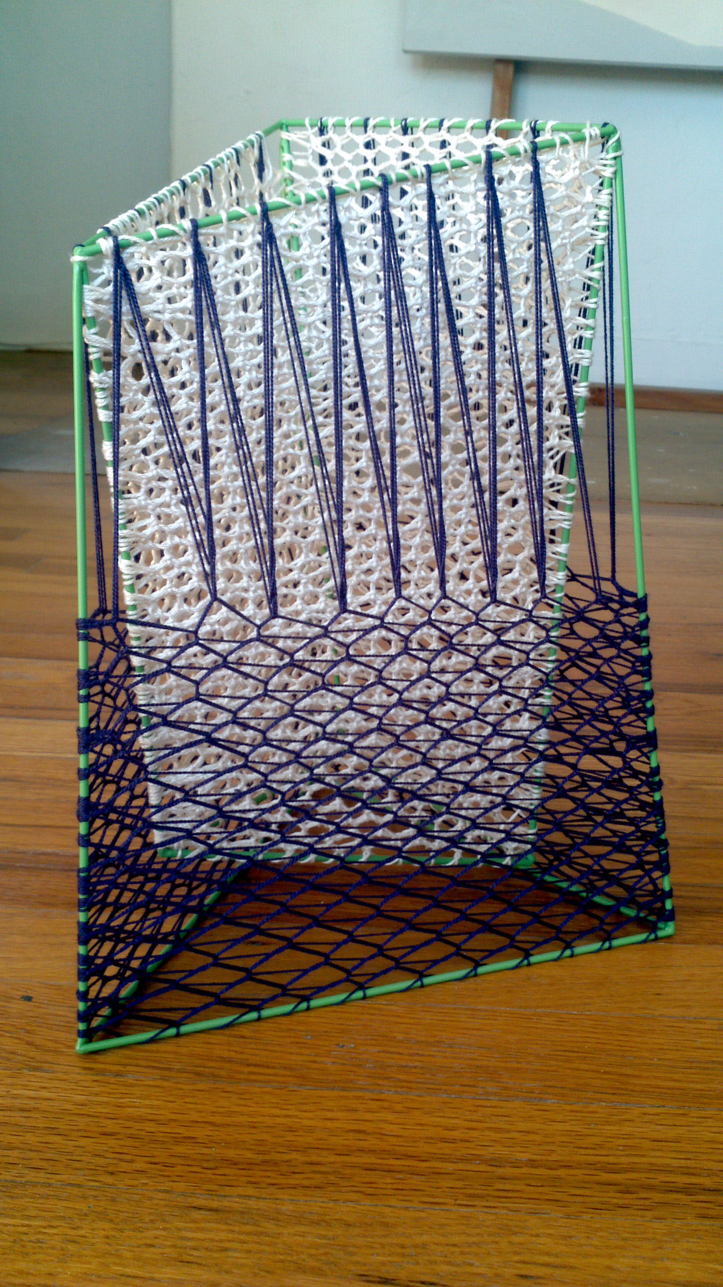 Ashley Landrum    1917    steel, string, paint   11 x 9 x14 Inches  Courtesy of the Artist