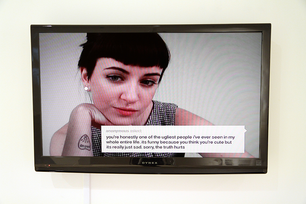 Lindsay Bottos  Anonymous  2014 Webcam portraits with anonymous text Dimensions variable Courtesy of the Artist