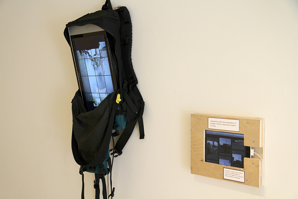 The Mobile Arts Platform (MAP): Peter Foucault and Chris Treggiari Interactive online map created by Nico Crisafulli aand Bryan Kahler  MAP Mobile Printmaking Backpack  2014 Mixed media interactive installation Dimensions variable Courtesy of the Artists