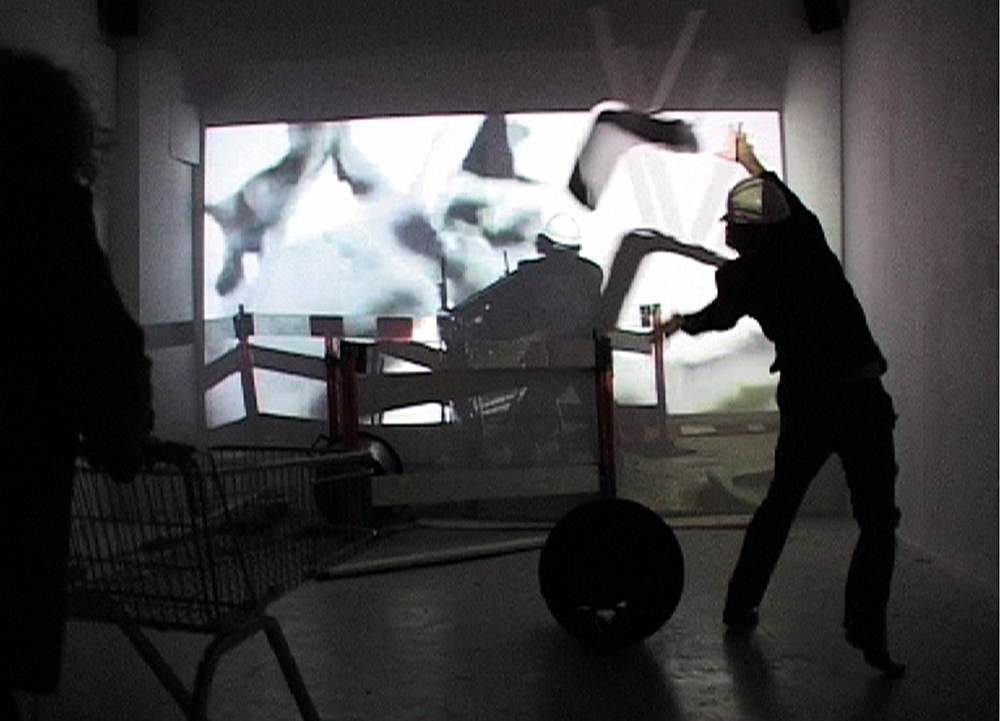 Alexis Milne  Riot Part One and Two  2010 Video 4 minutes 51 seconds Dimension variable Courtesy of the Artist