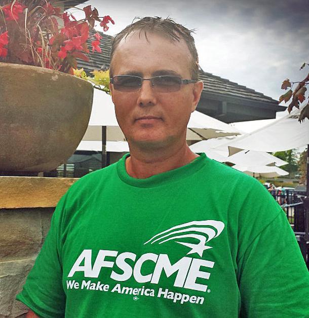 Rick Albright, president of Local 2487