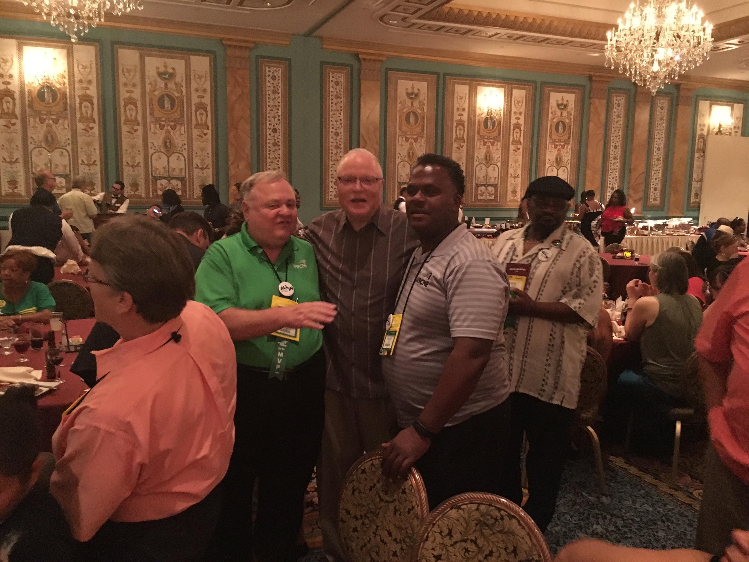 Presidential meeting:  Pictured from left: Roman Ulman, Lee Saunders, Walter Crenshaw