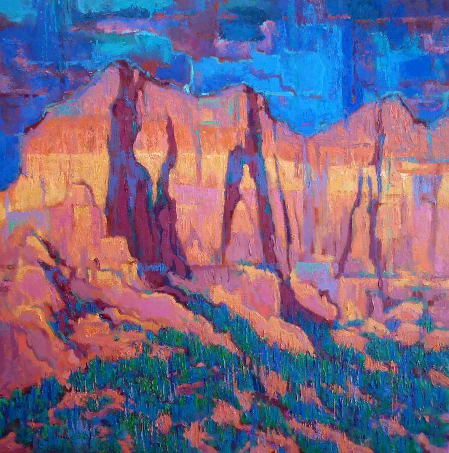 """""""Often the landscape is a mass of abounding confusion. I try to emphasize the elements I want and disregard the rest,"""" John Berry"""