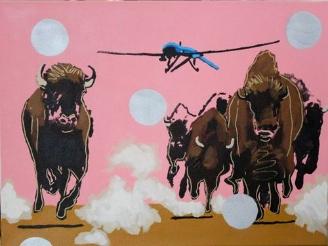 """Frank Buffalo Hyde, """"Buffalo Fields Forever Blue Drone """""""