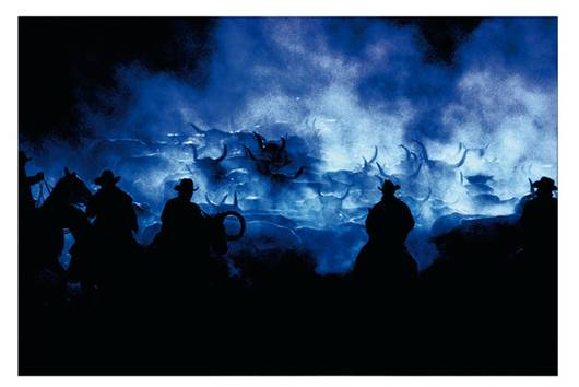 RICHARD PRINCE (B. 1949)    Silhouette Cowboy    Ektacolor photograph    59¼ x 83¼ in. (150.5 x 211.5 cm.)    This work is an artist's proof aside from an edition of two plus one artist's proof.