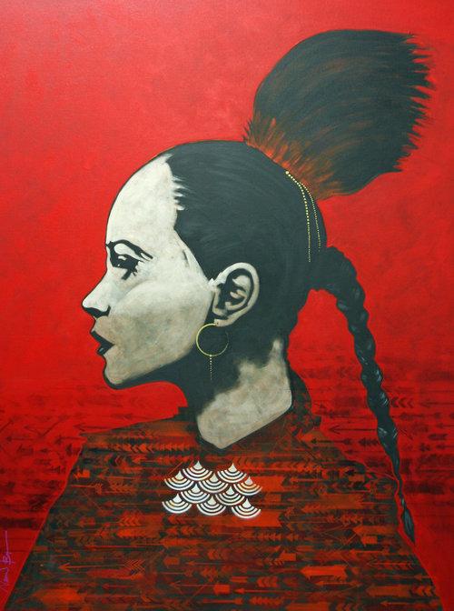 "Nocona Burgess , Atlanta, acrylic on canvas 48 x 36"""