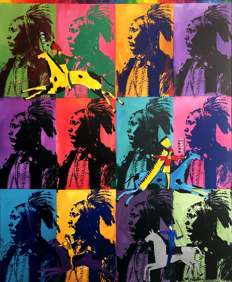"Stanley Natchez ,  Homage to Warhol,  oil on canvas, 40 x 46"""