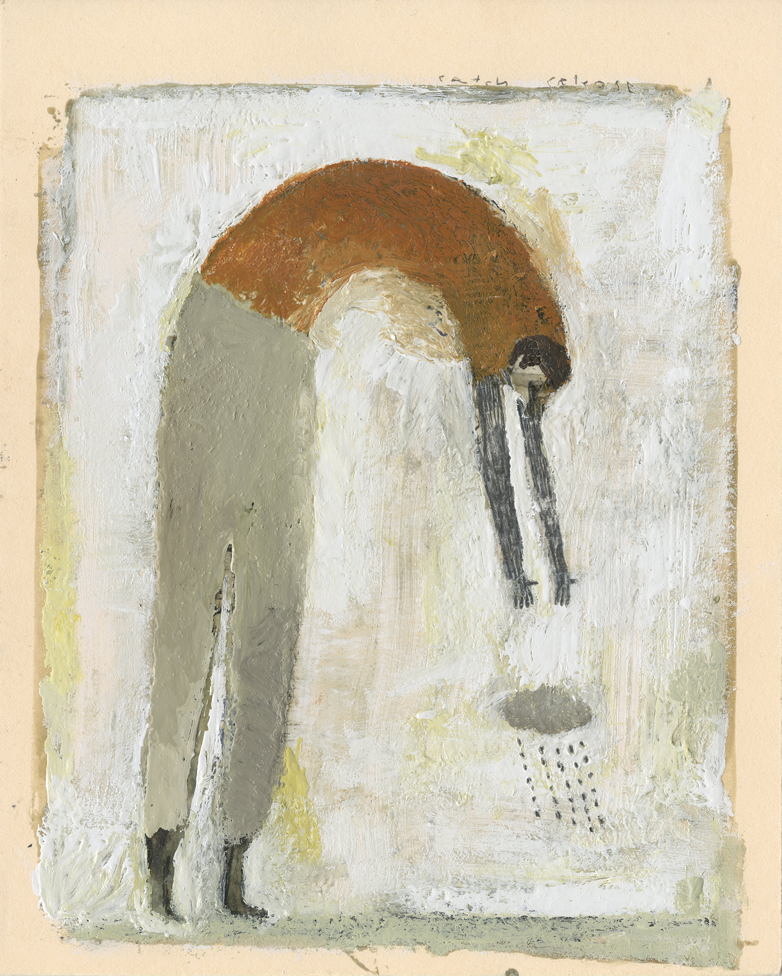 Fidalis Buehler    Catch and Release   mixed media, 10 x 8 in.