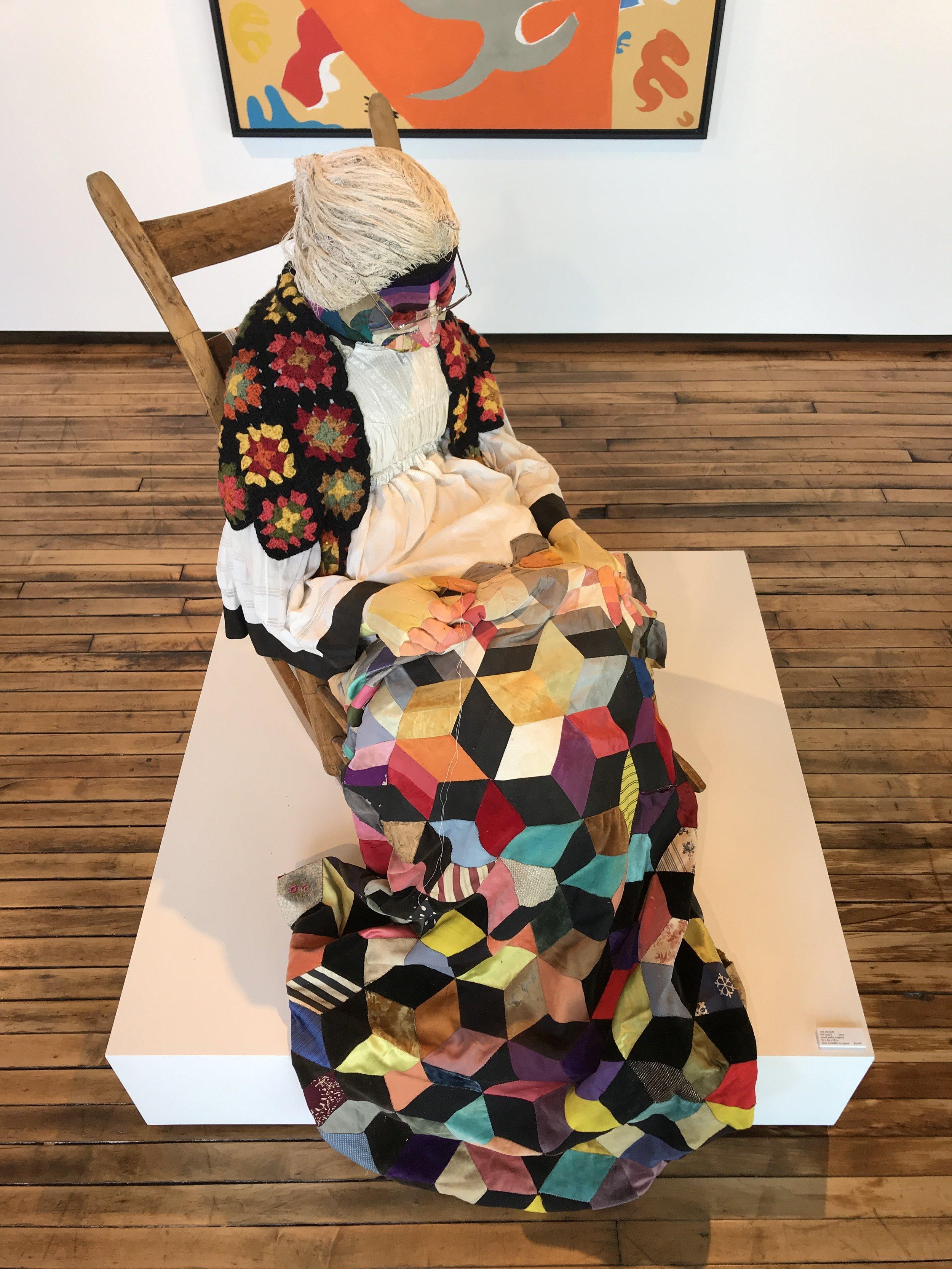 Jann Haworth    Old Lady II,  1965  mixed media sculpture, 36 x 36 x 24 in.