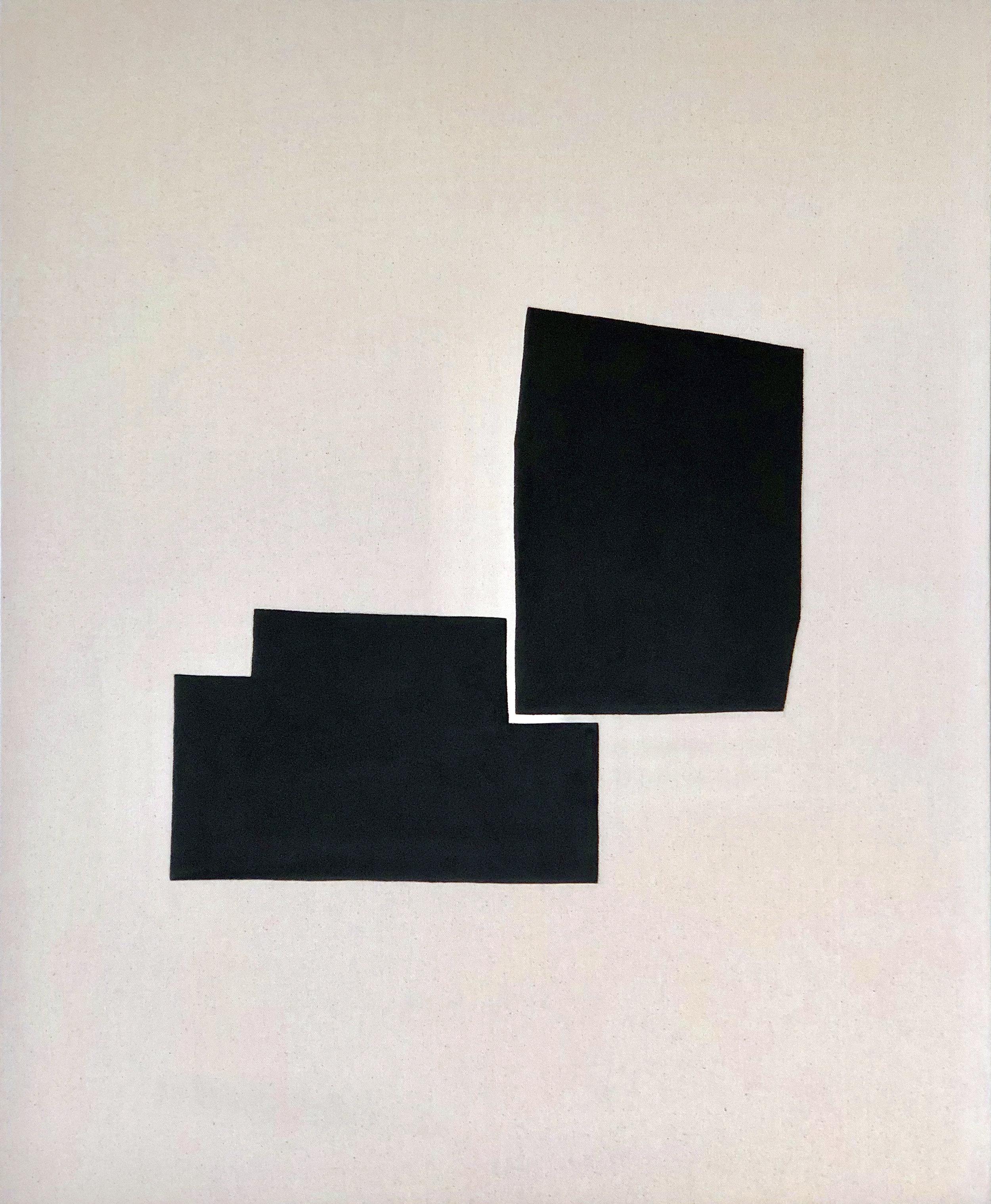 Shalee Cooper    Feminine + Masculine   gesso on raw canvas, 34 x 28 in.