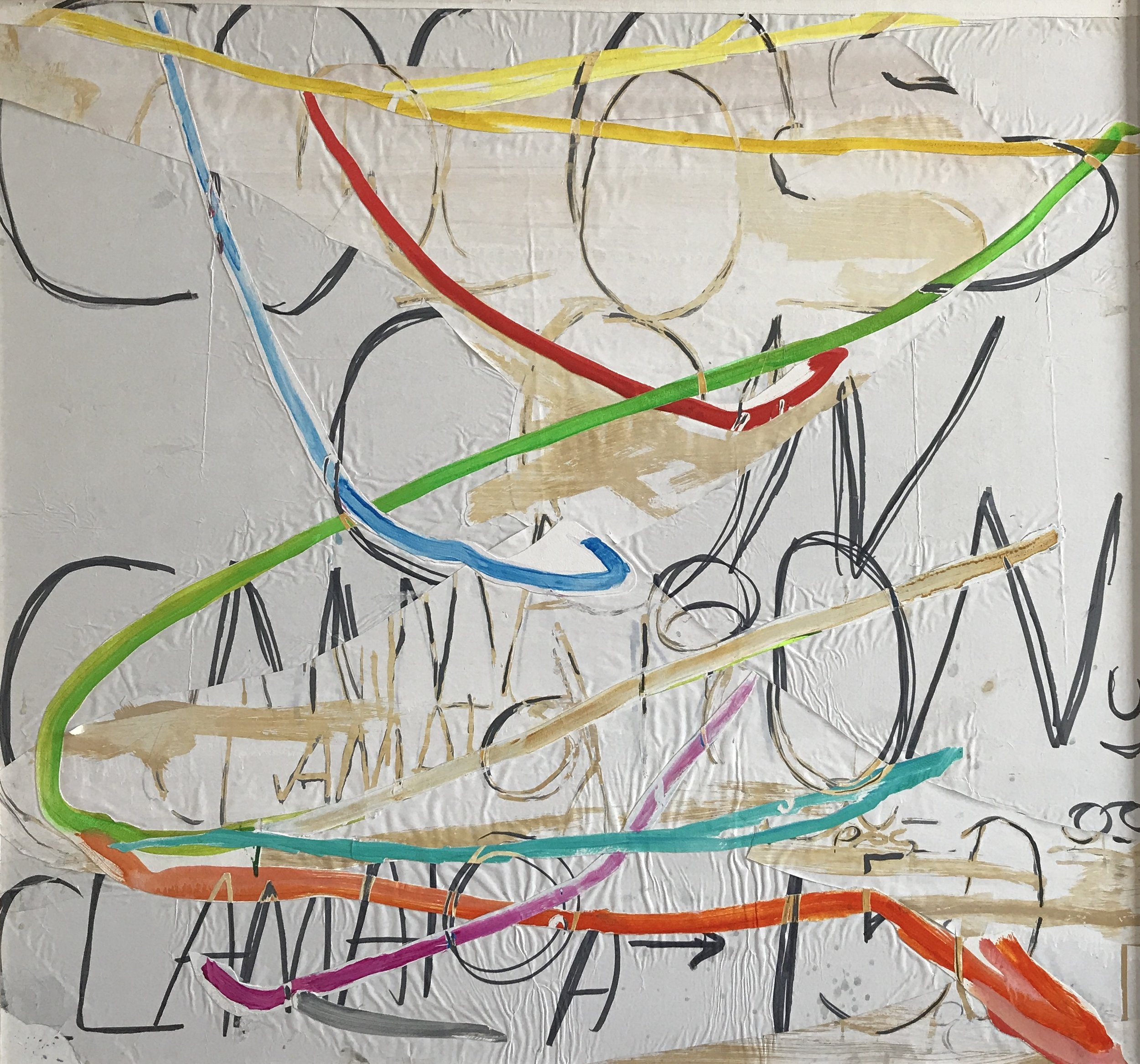 Jonathan Frioux    Pico de Gallo #6   mixed media on paper, 42 x 40 in.