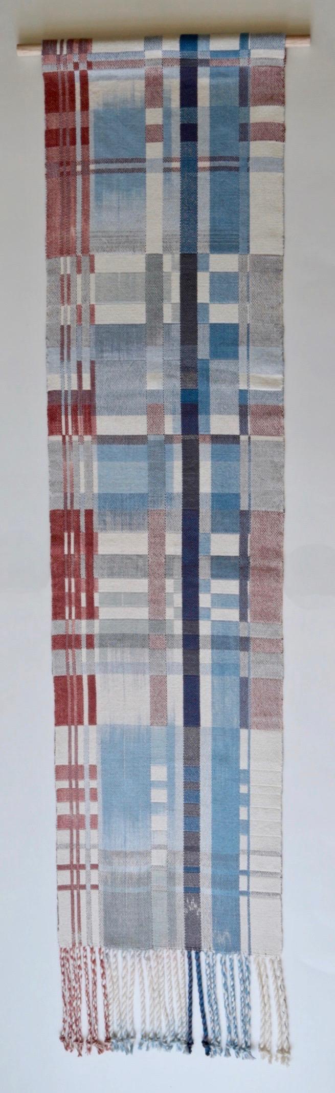 Juliette Lanvers    Deconstructed   hand-weaving, 47.5 x 10.75 in.