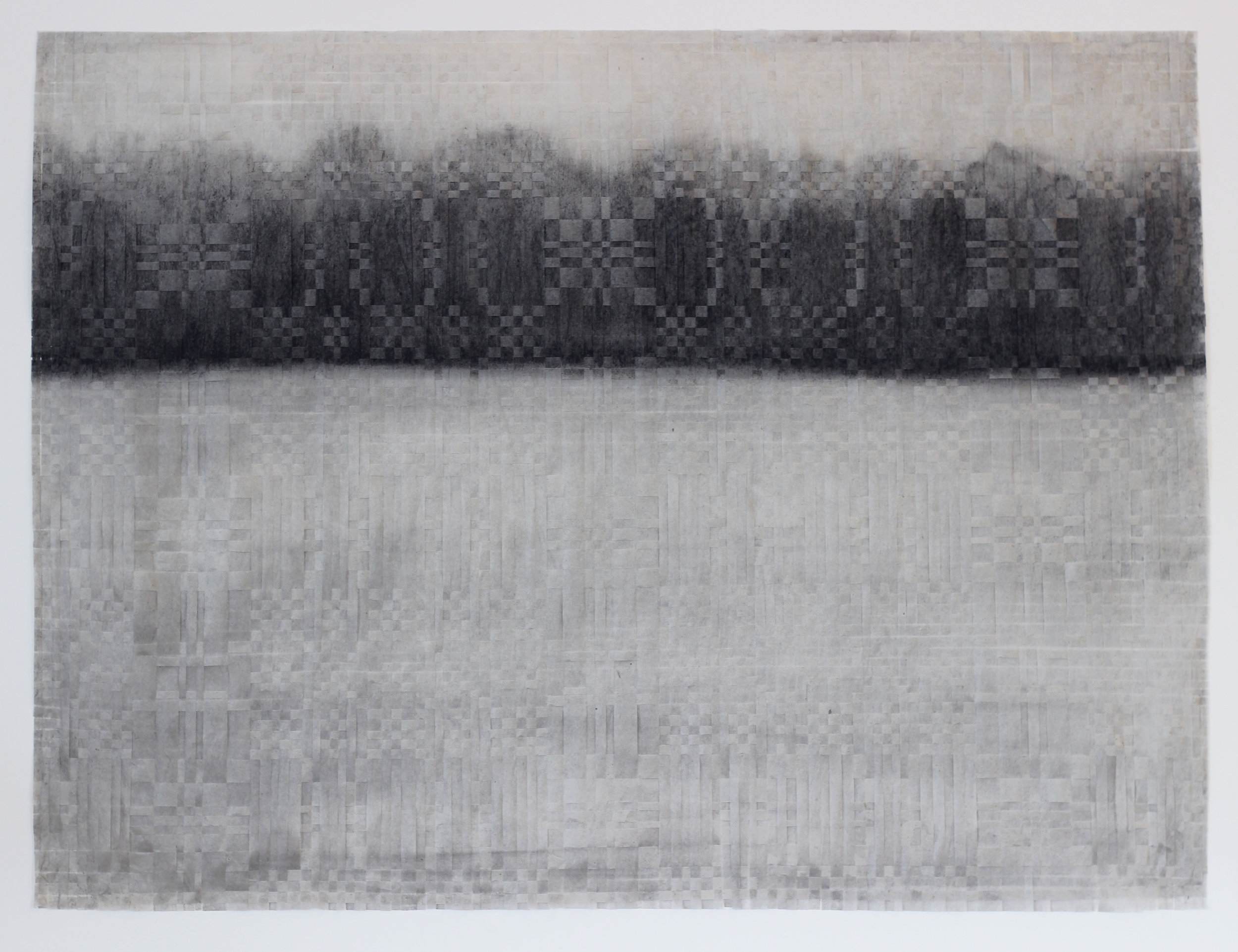 Anna Laurie Mackay    Medallion   charcoal on silk tissue, 28 x 22 in.