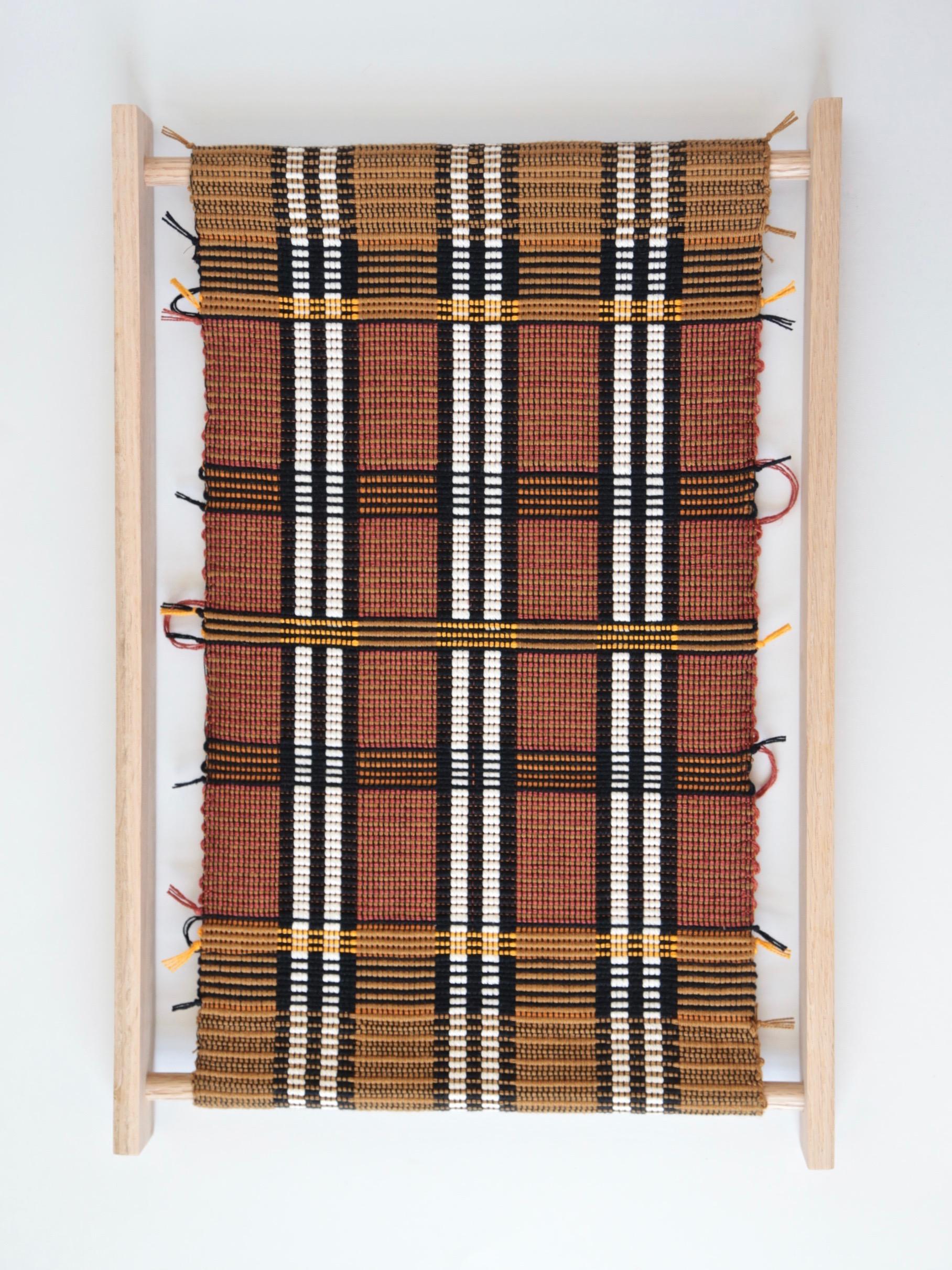 Juliette Lanvers    Dreaming of Mali III   hand-weaving, 19.5 x 13.5 in.