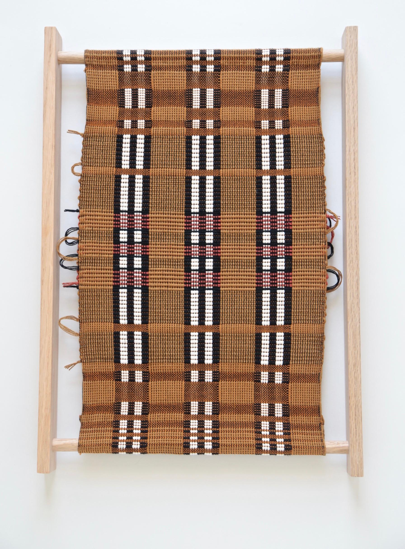 Juliette Lanvers    Dreaming of Mali II   hand-weaving, 17.5 x 12.5 in.