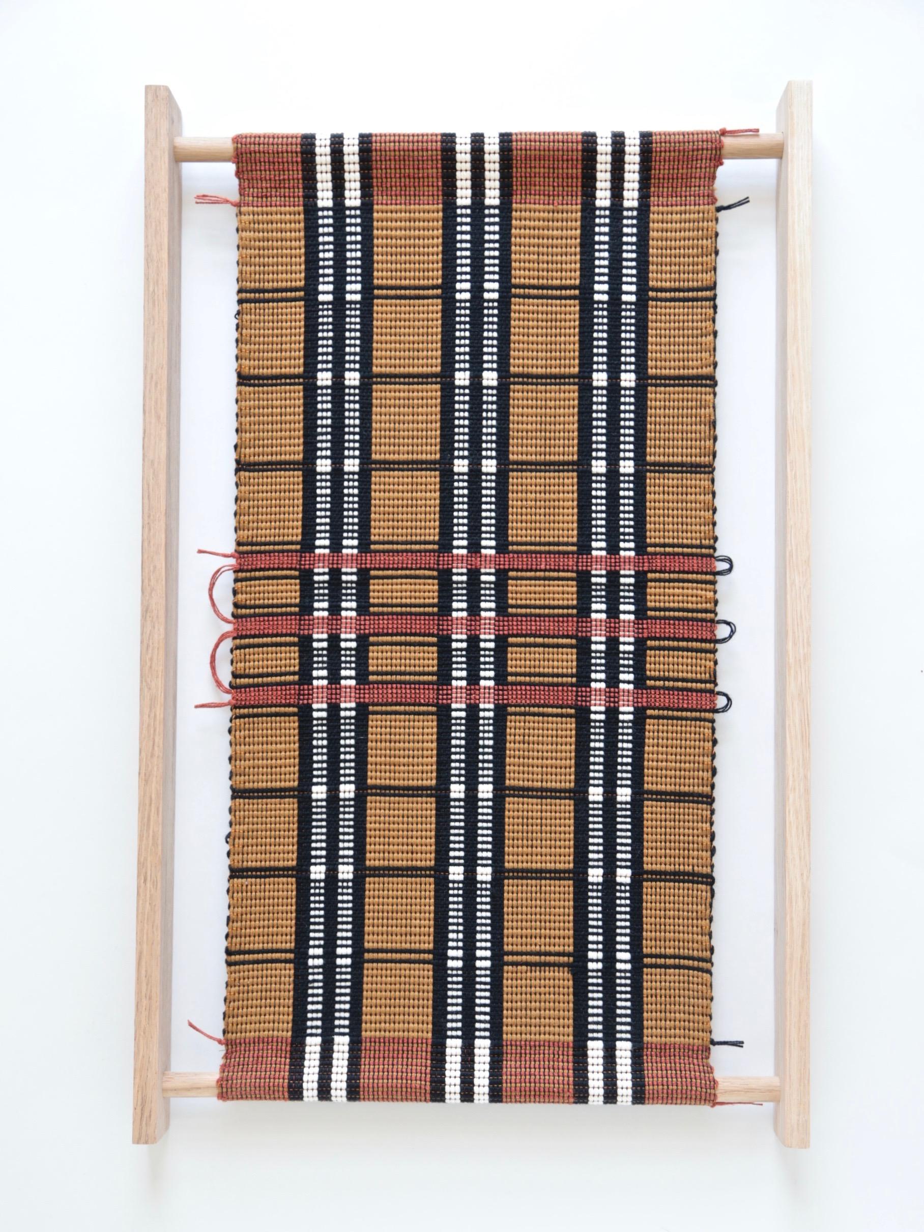 Juliette Lanvers    Dreaming of Mali I   hand-weaving, 18.5 x 12.75 in.