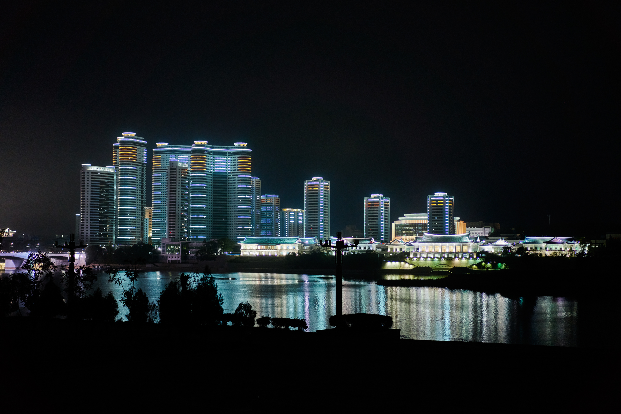 Many changes are happing in North Korea, Just a few years ago this city had no lights at night. Pyongyang, NK