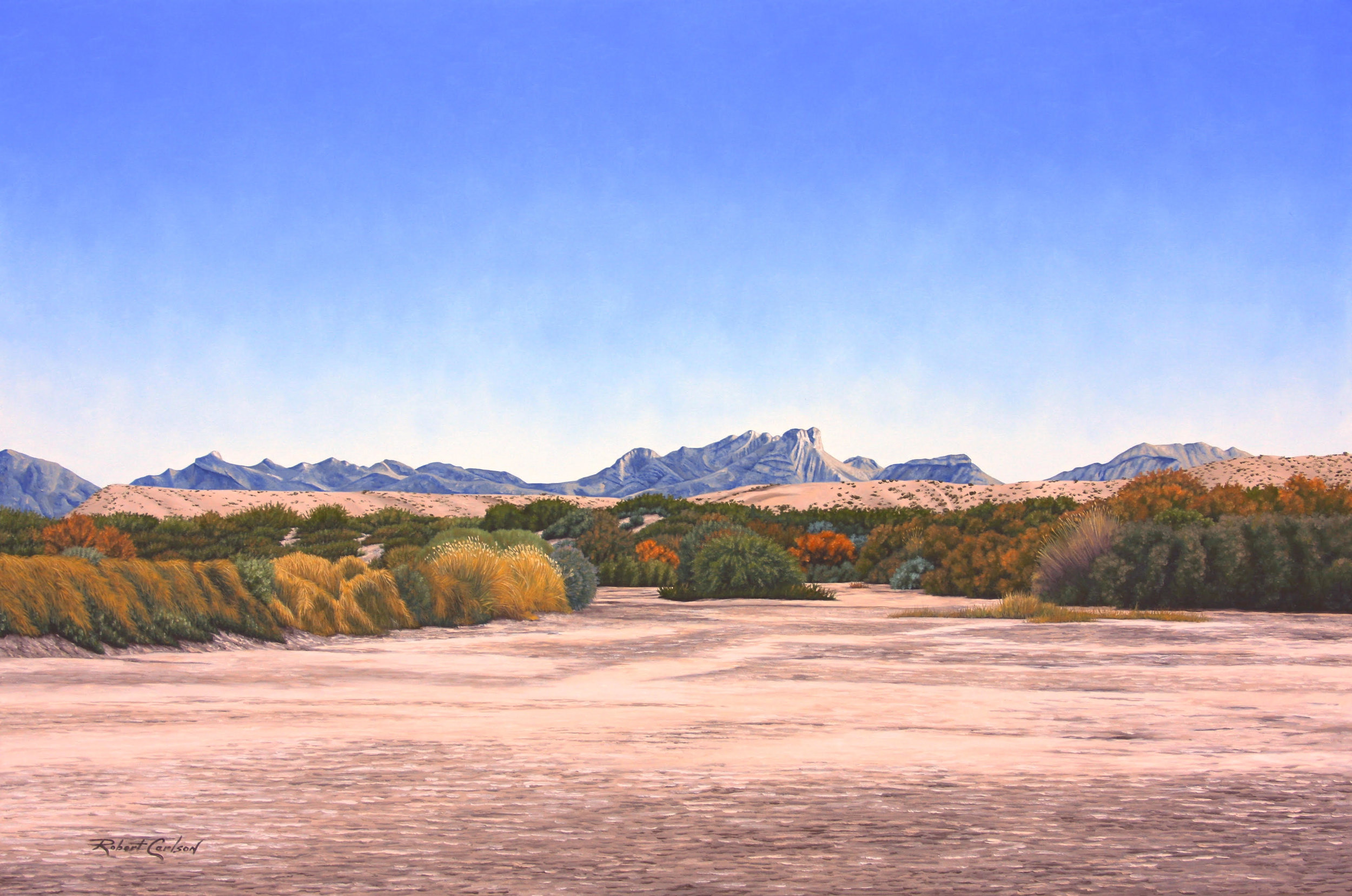 """""""Rio Seco"""" 22"""" x 36"""" signed and numberted limited edition. (Limited to 25) Giclée, $470 includes $20 shipping."""