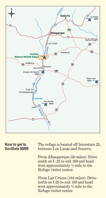 For more maps, visit  https://www.fws.gov/refuge/Sevilleta/map.html .