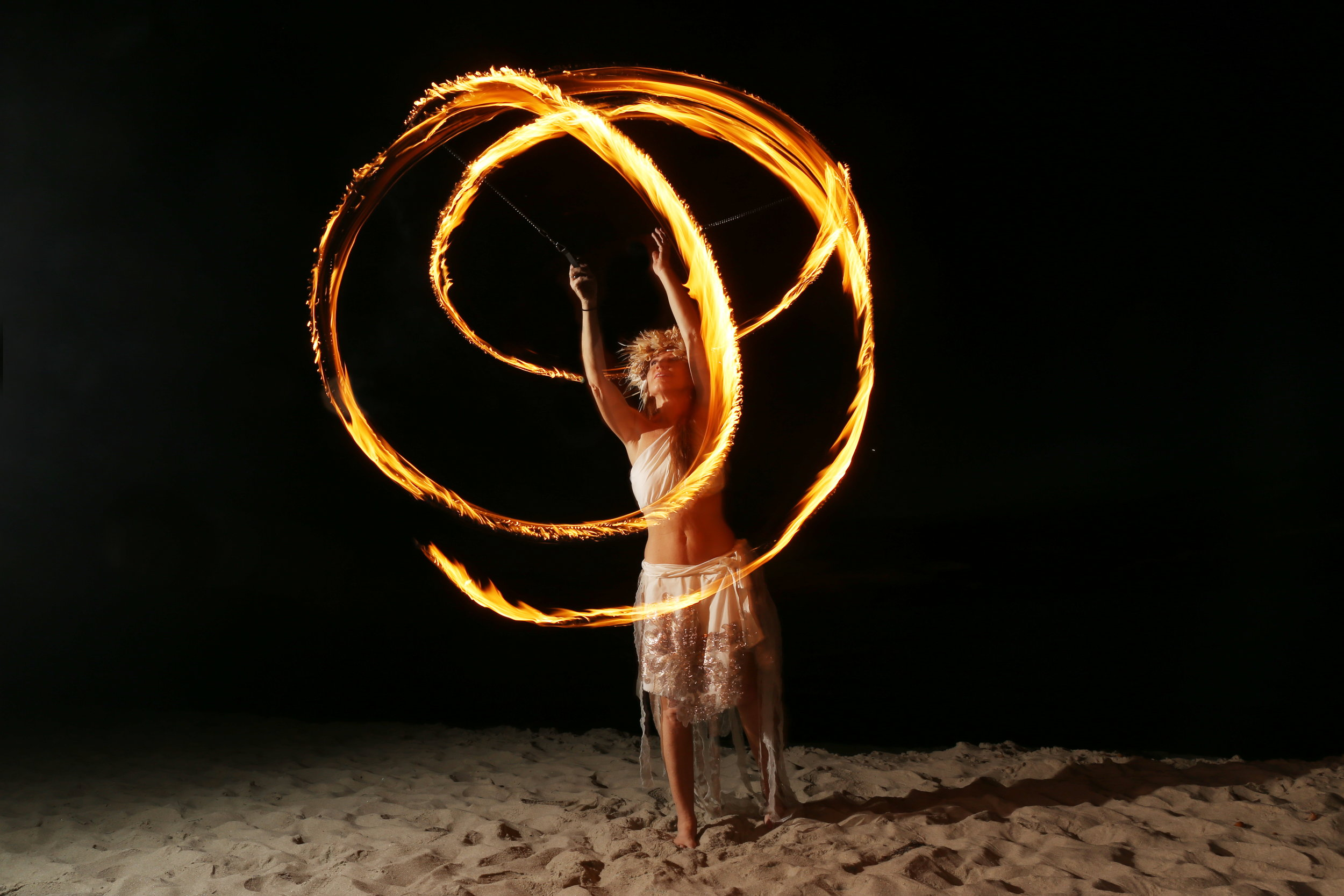 Cindy Spinning Fire Poi - Photo credit Haley Elizabeth Photography